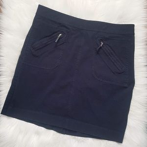 Ralph Lauren navy blue cotton skirt size 14